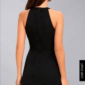 Lulu's Dresses - Lulu's Mamacita Halter Top Black Skater Dress